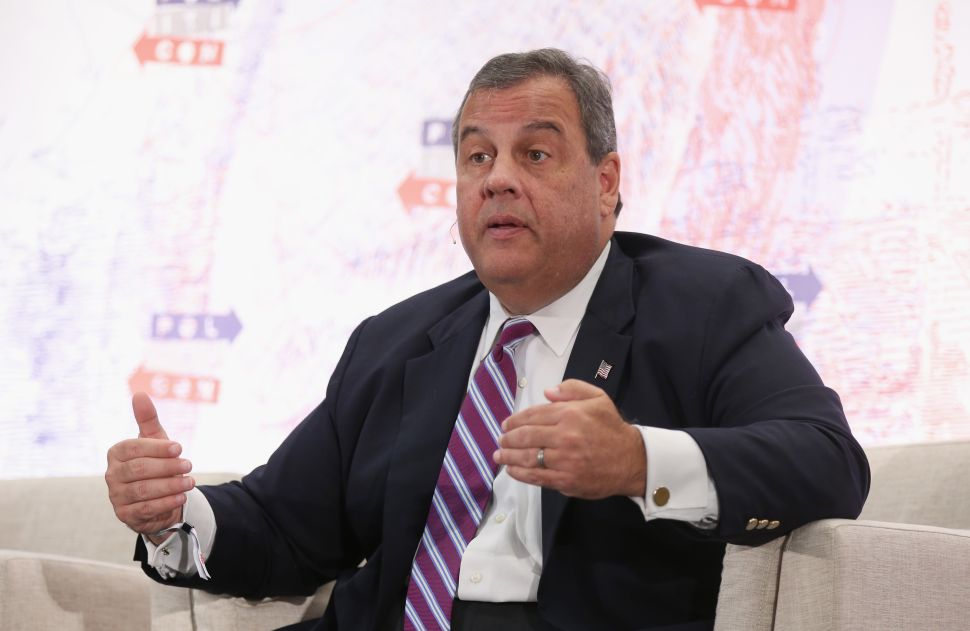 Chris Christie speaks onstage during Politicon 2018 at Los Angeles Convention Center on October 20, 2018 in Los Angeles, California.