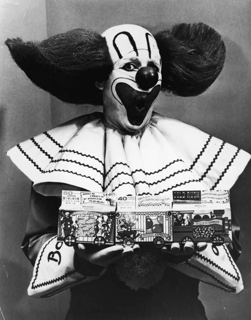 Frank Avruch dressed as Bozo the Clown in 1965.