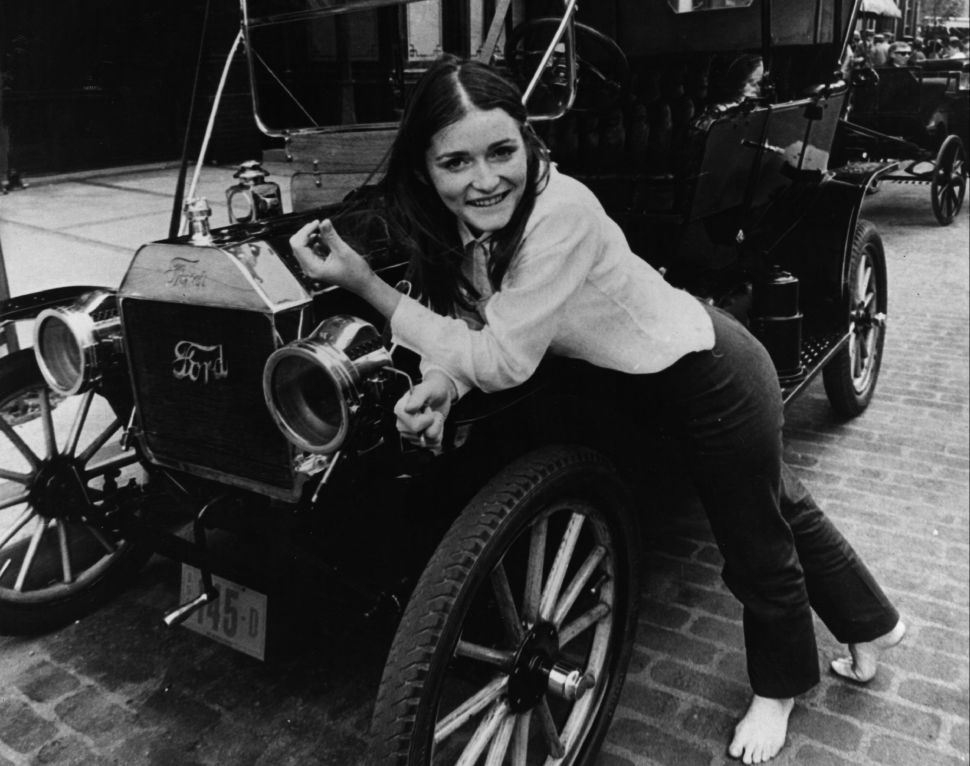 Margot Kidder on the set of 'Gaily, Gaily' on 15th January 1969.
