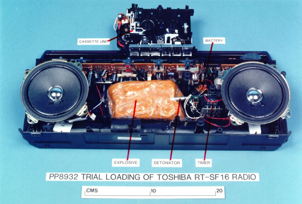 A Mock-Up Of The Explosives-Loaded Toshiba Cassette Recorder That Blew Up Pan Am Flight 103 Over Lockerbie In 1988.