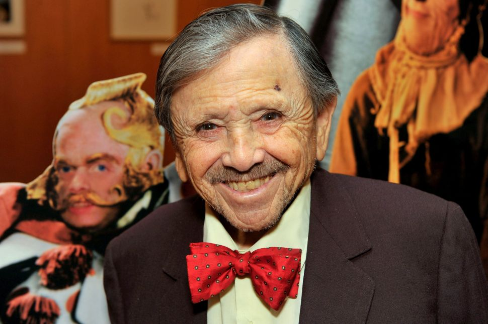 "Actor Jerry Maren attends a screening of ""The Wizard Of Oz"" on August 3, 2009."