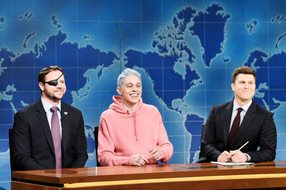 Congressman-elect & Navy Veteran Dan Crenshaw, Pete Davidson and SNL 'Weekend Update' anchor Colin Jost.