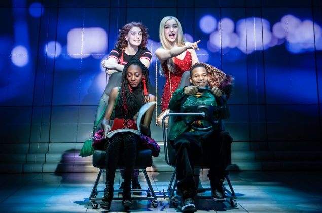 Ephie Aardema, Dove Cameron, Gilbert L. Bailey II, Zurin Villanueva in Clueless, The Musical.