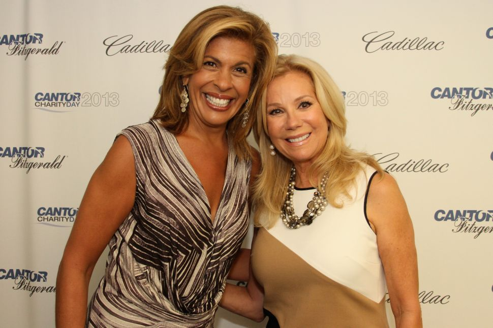 Hoda Kotb and Kathie Lee Gifford in New York City.