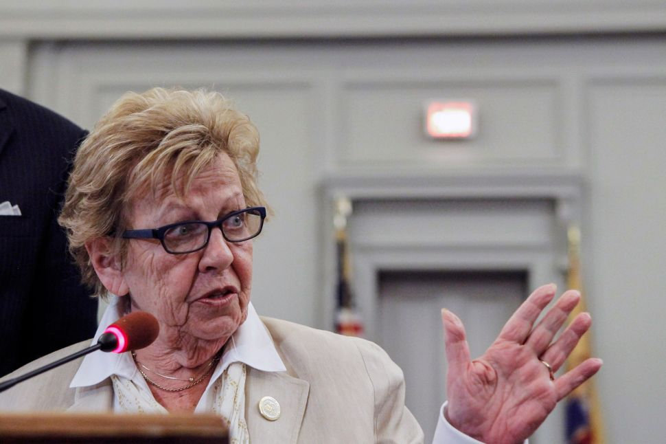New Jersey Senate Majority Leader Loretta Weinberg.
