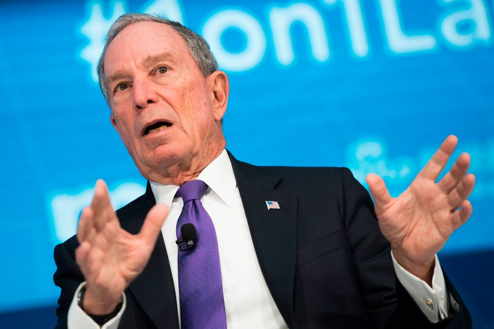 Former New York City Mayor and founder of Bloomberg Philanthropies Mike Bloomberg.