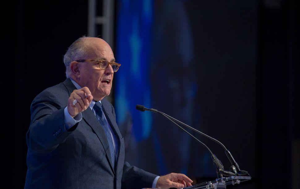 President Donald Trump's attorney Rudy Giuliani.