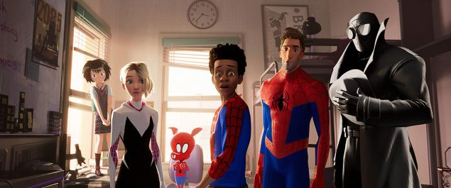 The Spideys of Spider-Man: Into the Spider-Verse.