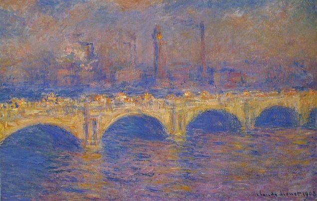 Claude Monet, 1903, Waterloo Bridge, Sunlight Effect.