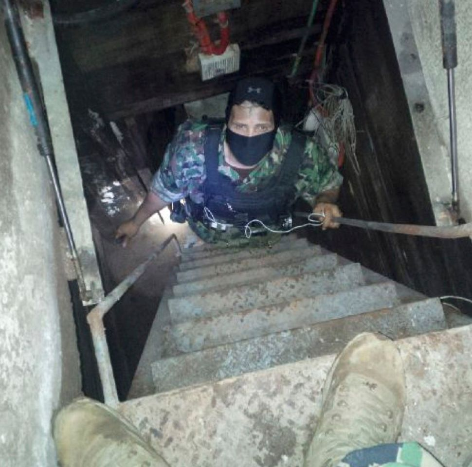 One of El Chapo's tunnels found by the Mexican Marines and DEA agent Victor Vasquez.