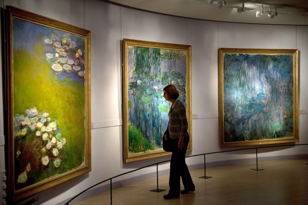 Nympheas series by Claude Monet.