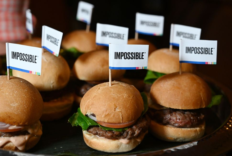 """The Impossible Burger 2.0"" at CES 2019."