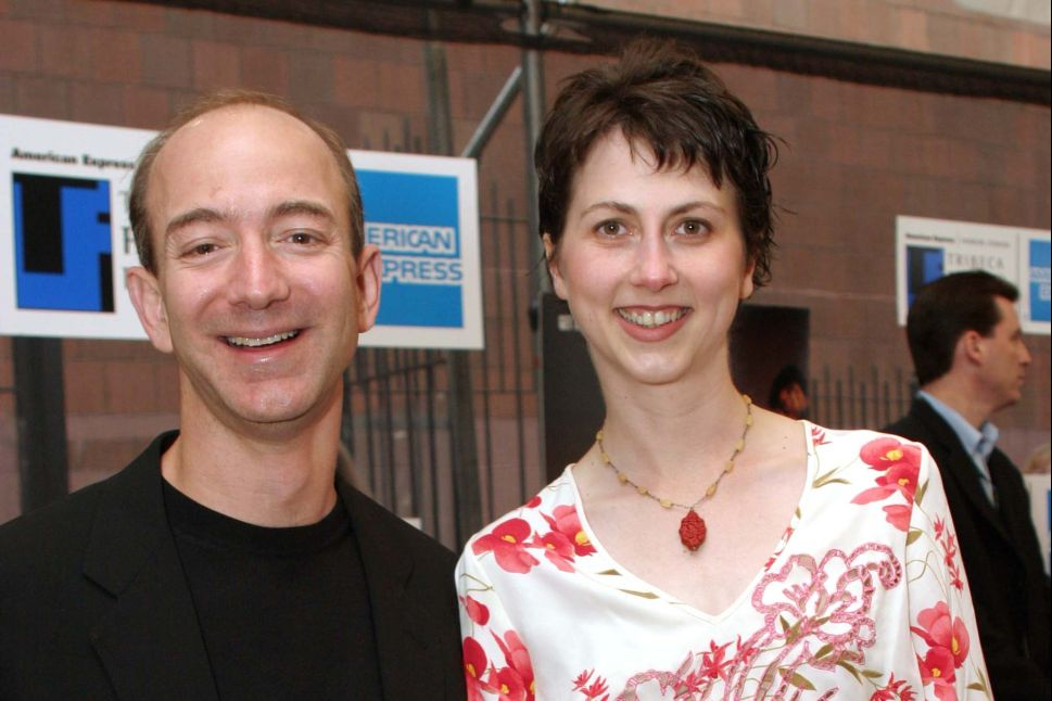 Jeff Bezos and his wife Mackenzie Bezos in 2003.