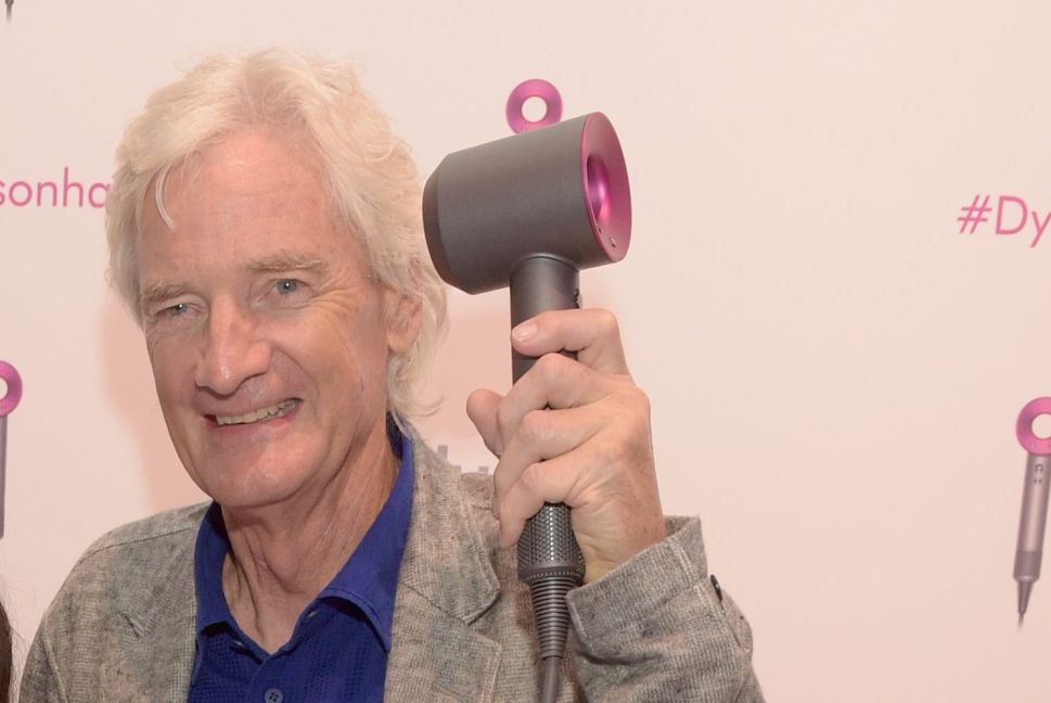 Dyson founder and chief engineer Sir James Dyson introduces the Dyson Supersonic Hair Dryer in 2016 in New York City.