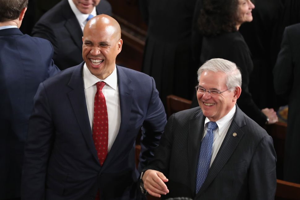 Senators Cory Booker and Bob Menendez.