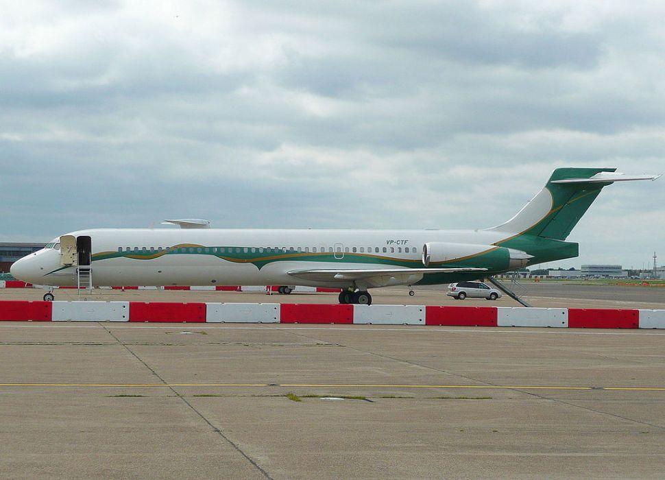 A McDonnell Douglas MD87 plane.