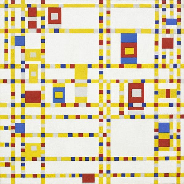 Piet Mondrian, 1942 Broadway Boogie Woogie.