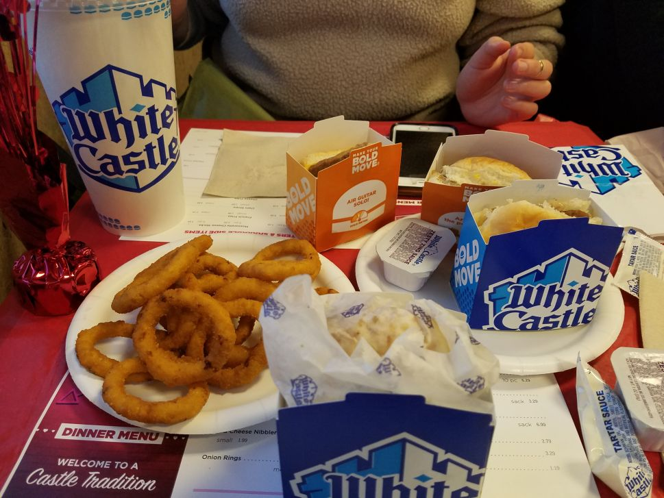 My girlfriend had never been to White Castle before (unbelievable), so I recommended the cheese sliders.