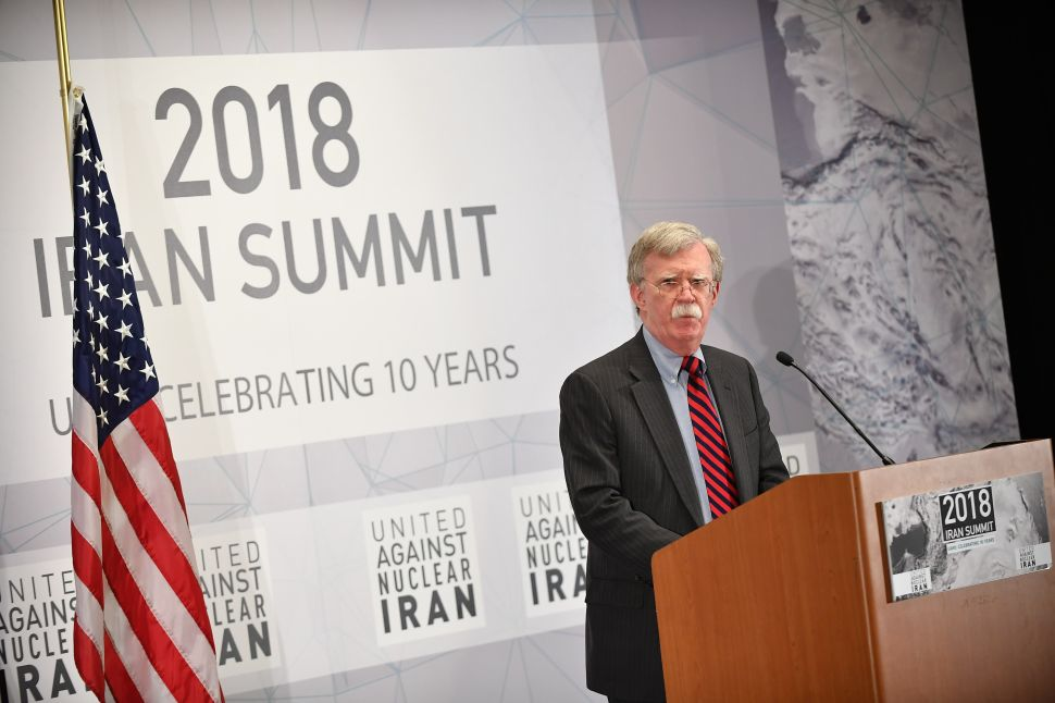 US National Security Advisor John Bolton speaks at the 'United Against Nuclear Iran' 2018 Summit.
