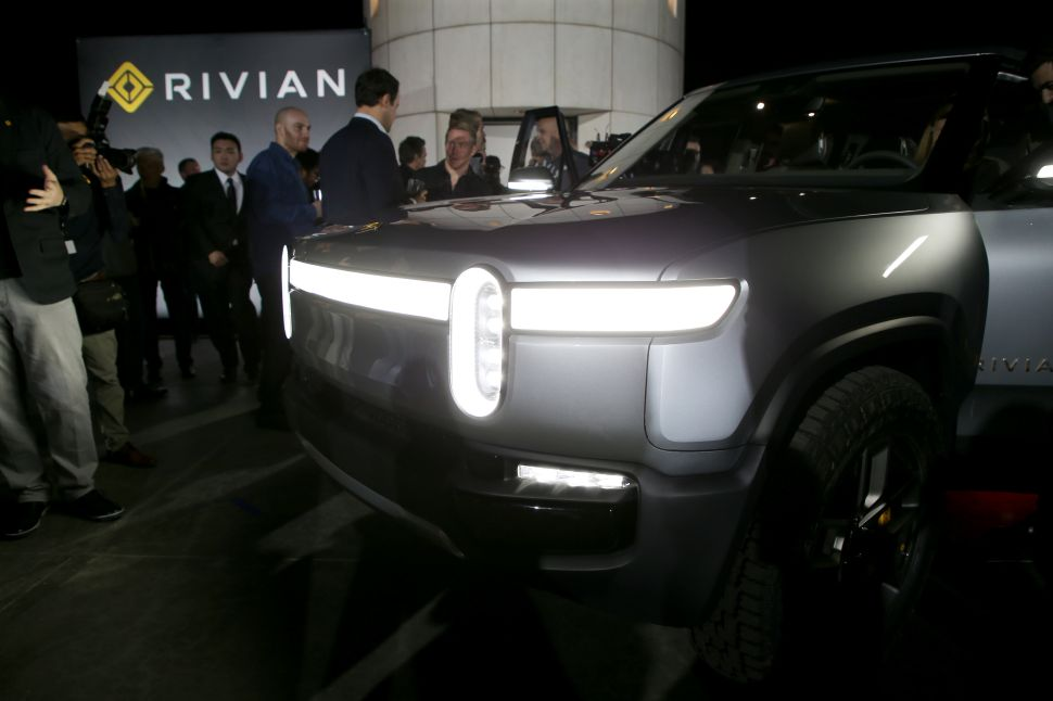 Rivian unveiled its electric pickup model R1T at the LA Auto Show on November 26, 2018.