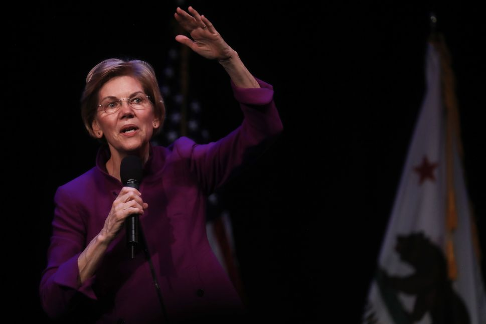 Democratic presidential candidate Elizabeth Warren (D-Mass.).