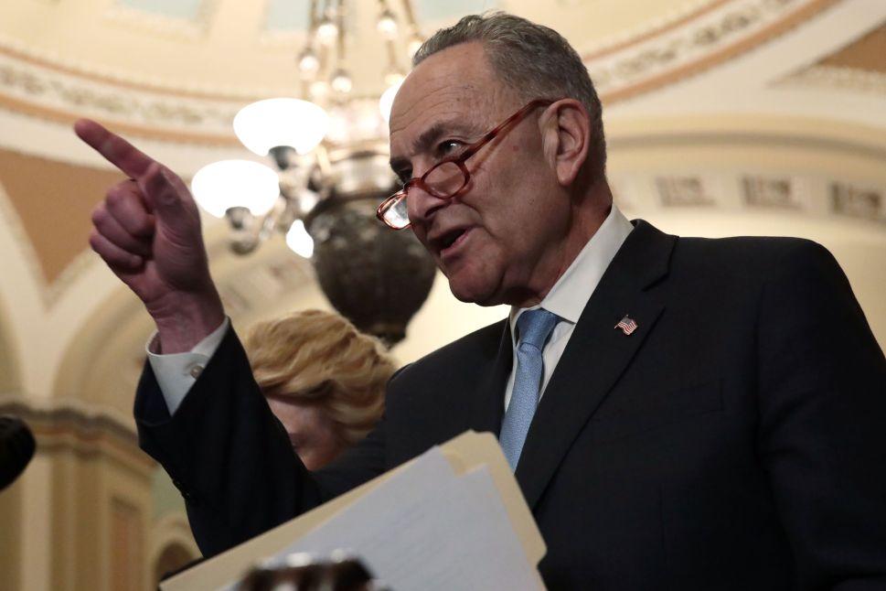 Senate Minority Leader Sen. Chuck Schumer (D-NY).