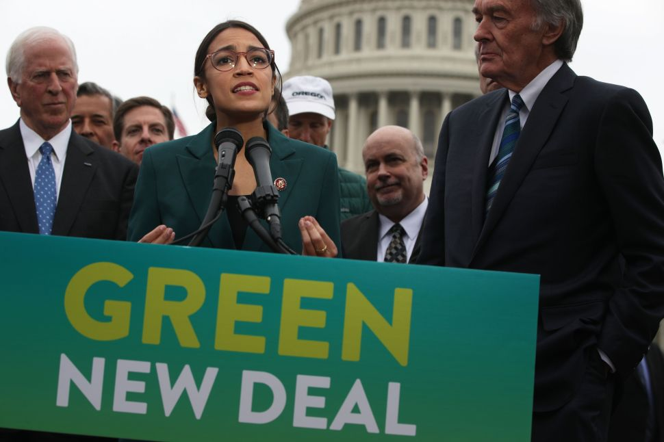Rep. Alexandria Ocasio-Cortez (D-N.Y.) unveils the Green New Deal resolution.