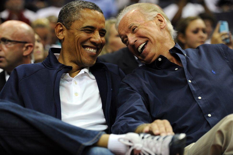 Former U.S. President Barack Obama and former Vice President Joe Biden.