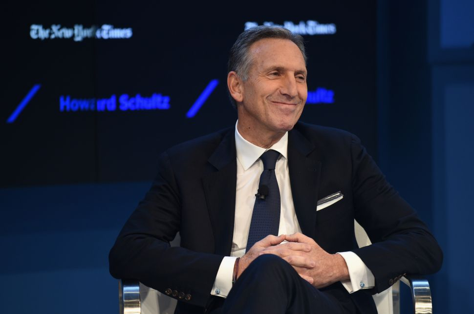 Chairman and CEO of Starbucks Howard Schultz