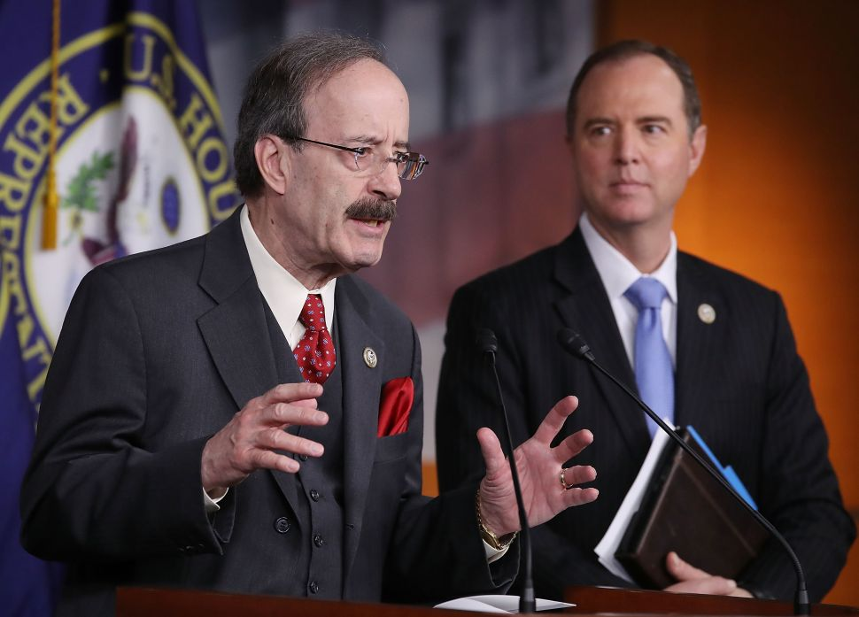House Foreign Affairs ranking member Eliot Engel (L) and House Intelligence ranking member Adam Schiff (D-Calif.).