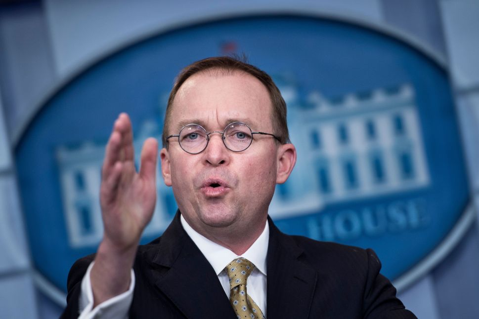 White House acting chief of staff Mick Mulvaney.
