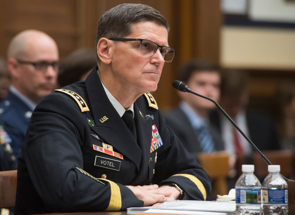 U.S. Army General Joseph Votel, commander of the U.S. Central Command.