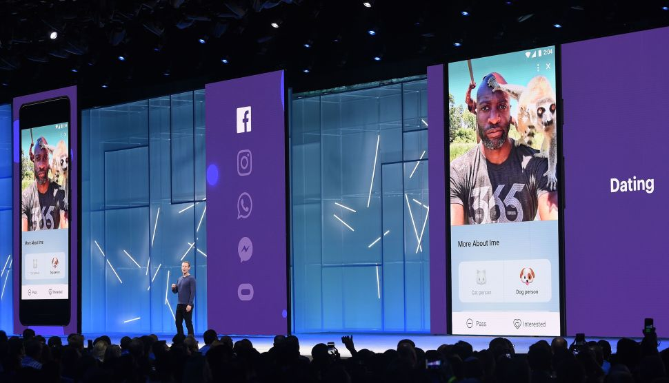 Facebook launched a dating feature at its annual developer conference last May.