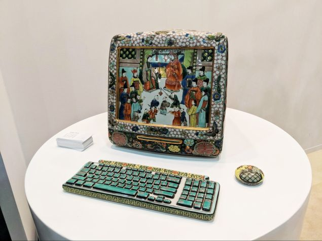 Porcelain iMac by Chinese ceramicist Ma Jun.