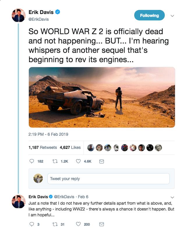Mad Max Sequel