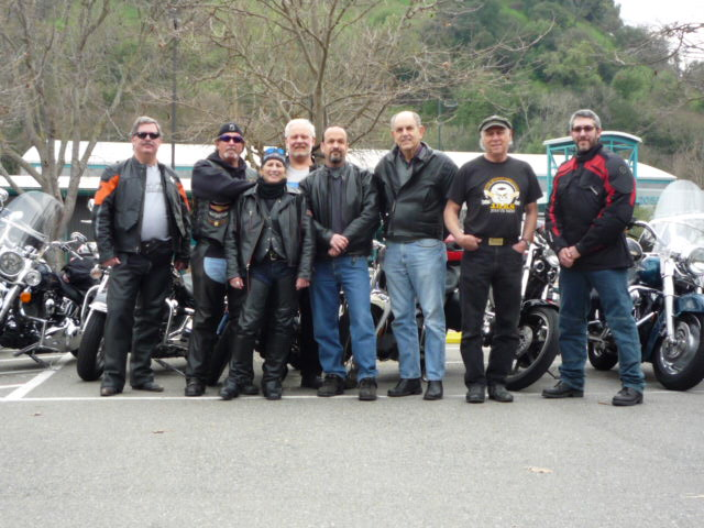 The founders of the Ridin' Chai Motorcycle Club.