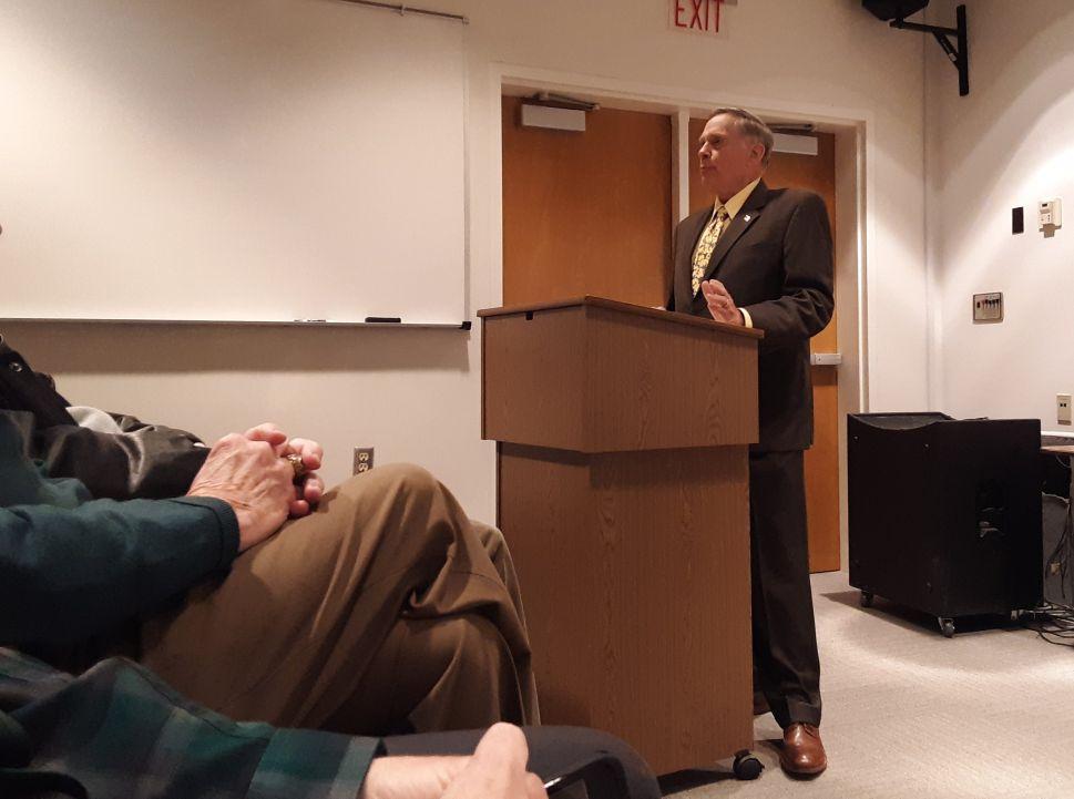 General John Jumper speaks at LaGrange College.