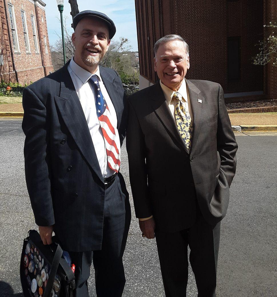 General John Jumper with writer John Tures.