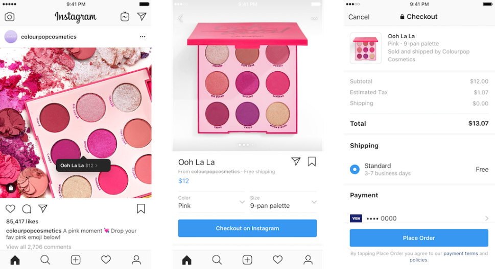 Instagram introduces Checkout for users to directly shop their favorite brands.