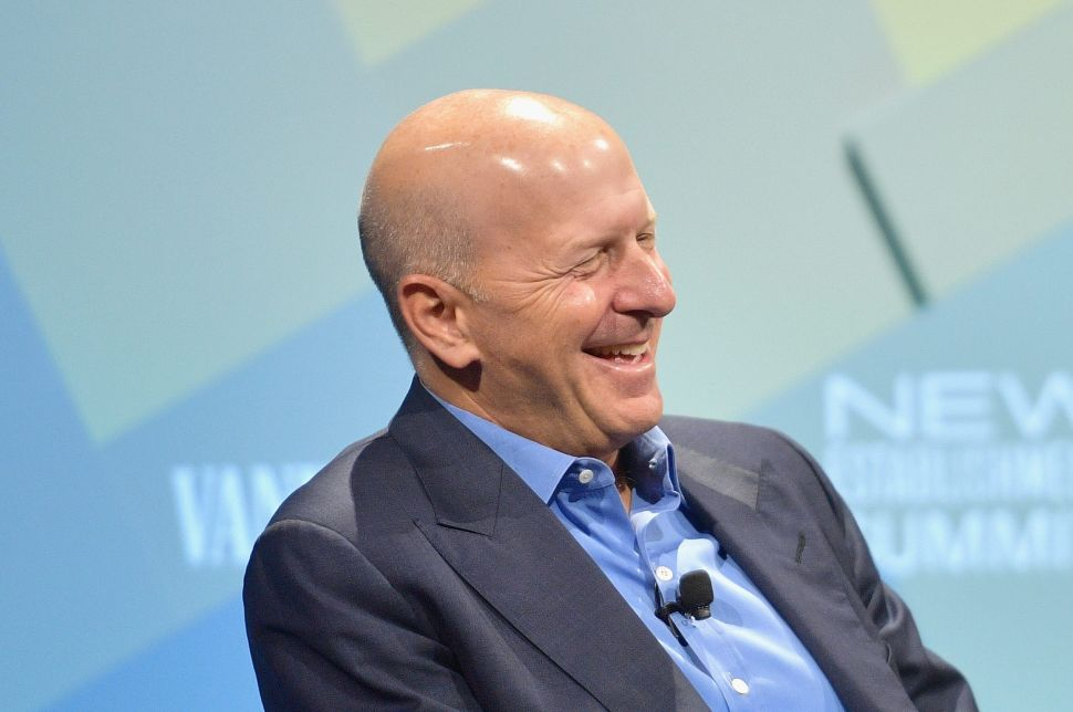 Goldman Sachs CEO David Solomon.