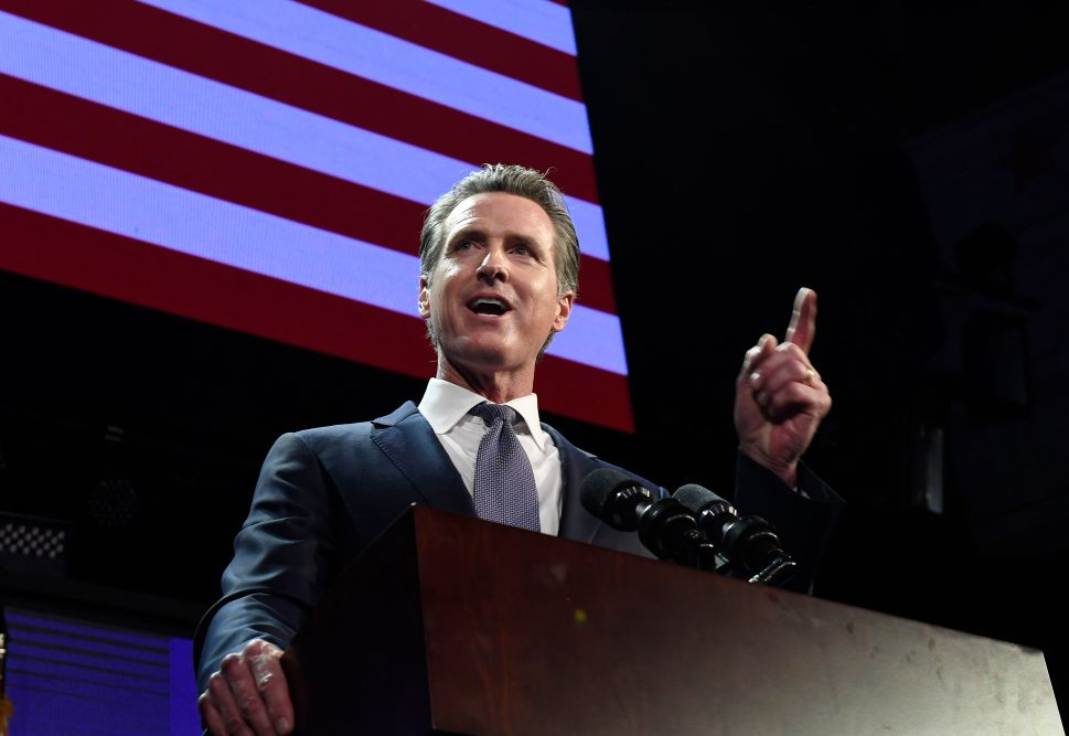California Governor Gavin Newsom.