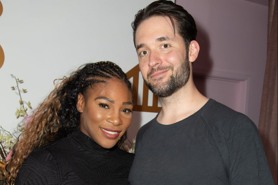 Serena Williams and husband Alexis Ohanian attend The Serena Collection Pop-Up VIP Reception at Melody Eshani on November 30, 2018 in Los Angeles, California.
