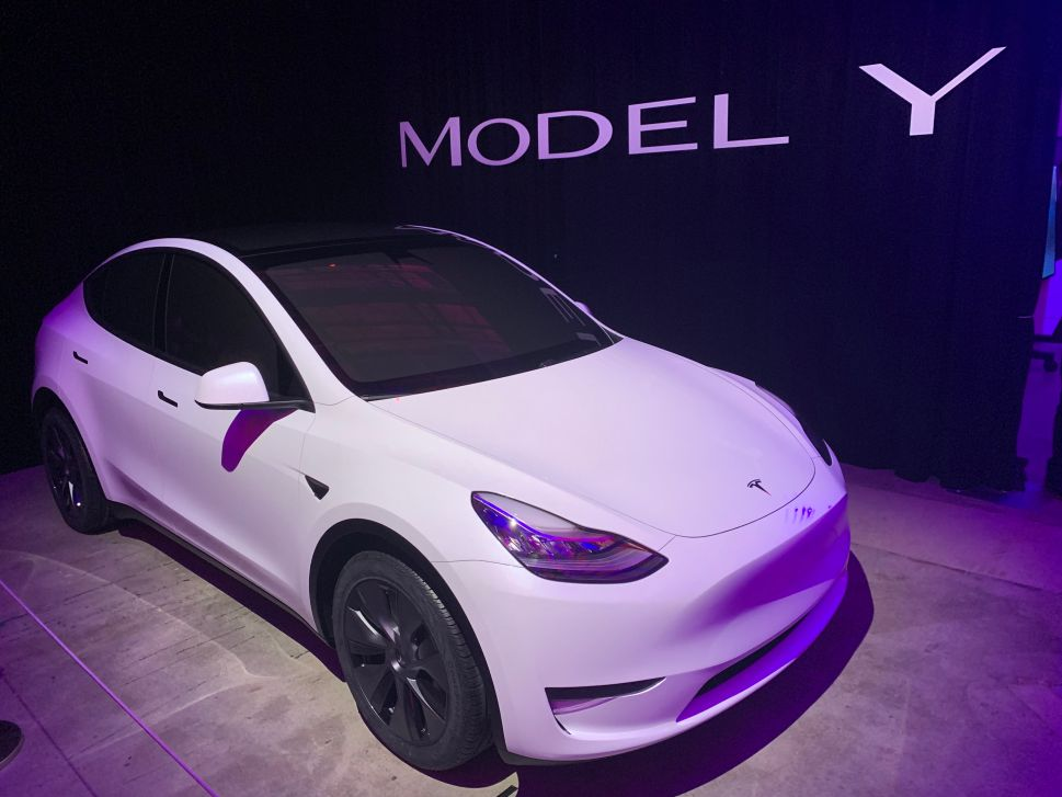 Tesla's new compact SUV electric vehicle, the Model Y.