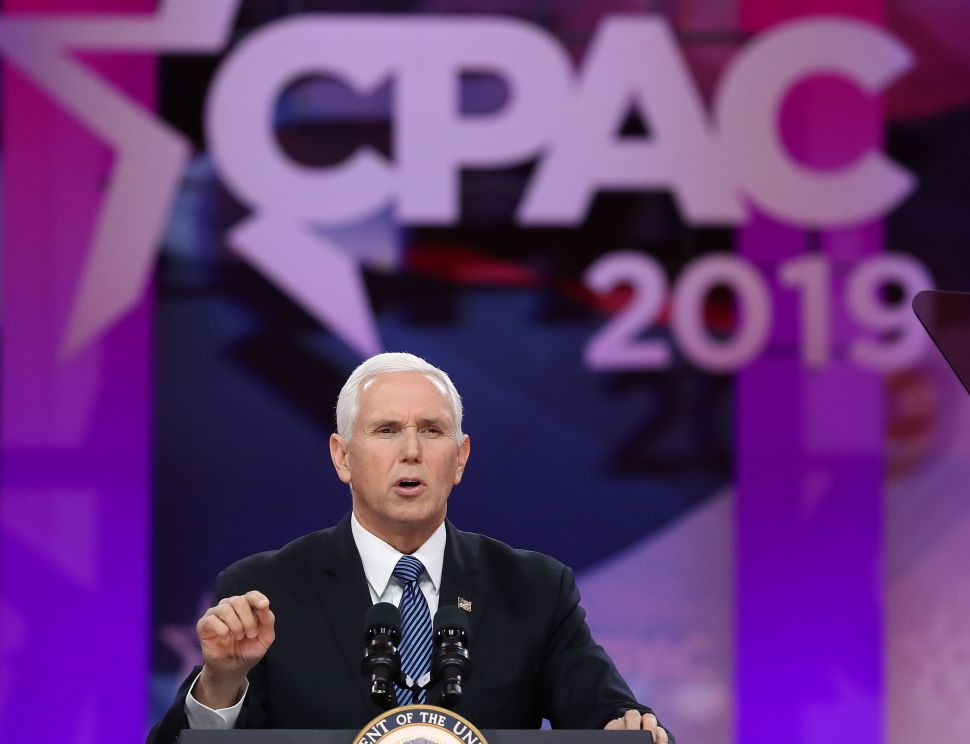Vice President Mike Pence speaks during CPAC 2019.