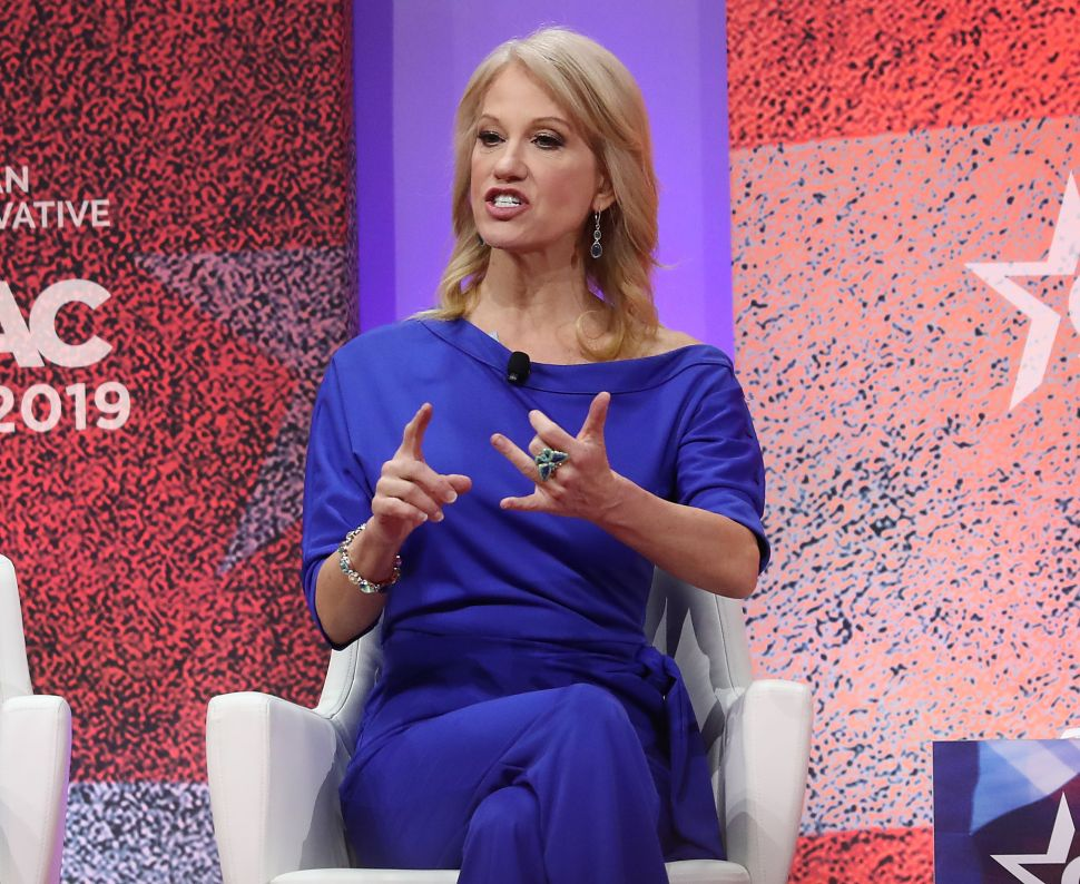 White House counselor Kellyanne Conway speaks about opioid abuse during CPAC 2019.