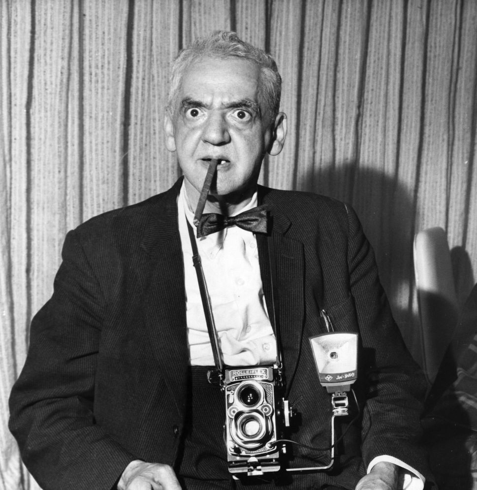 American photographer Weegee (1899 - 1969).