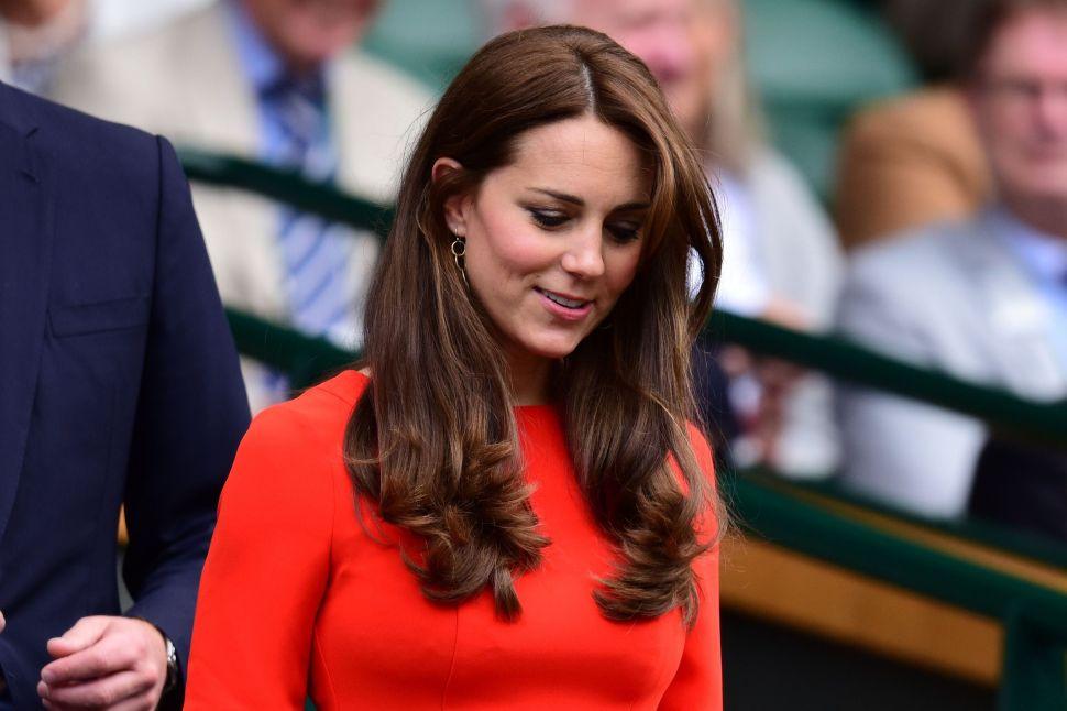 Kate Middleton in a L.K. Bennett dress.