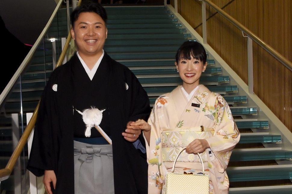 Marie Kondo and her husband, Takumi Kawahara.