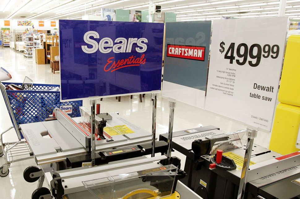 Sears sold Craftsman tool to Stanley Black & Decker for $900 million in March 2017.