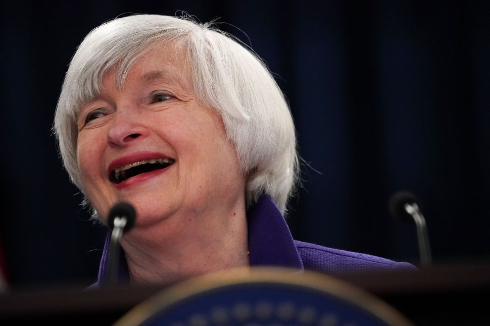 Janet Yellen led the Federal Reserve from 2014 to 2018.